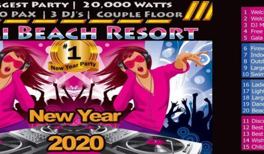 Pali beach resort New Year in Mumbai
