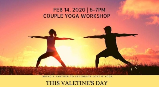 Yoga on Valentines day