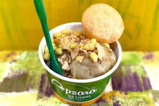 pani puri ice cream at Apsara