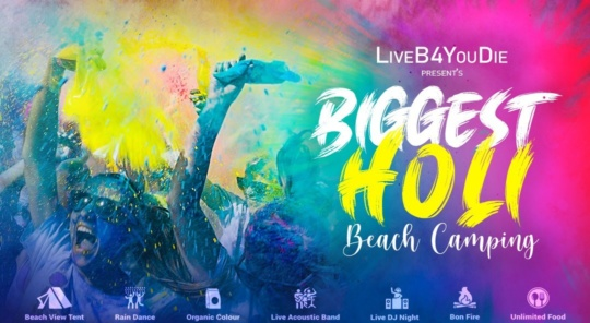 Holi Event in Mumbai - holi beach camping