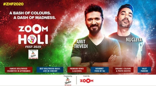 zoom holi fest 2020 - holi parties in Mumbai