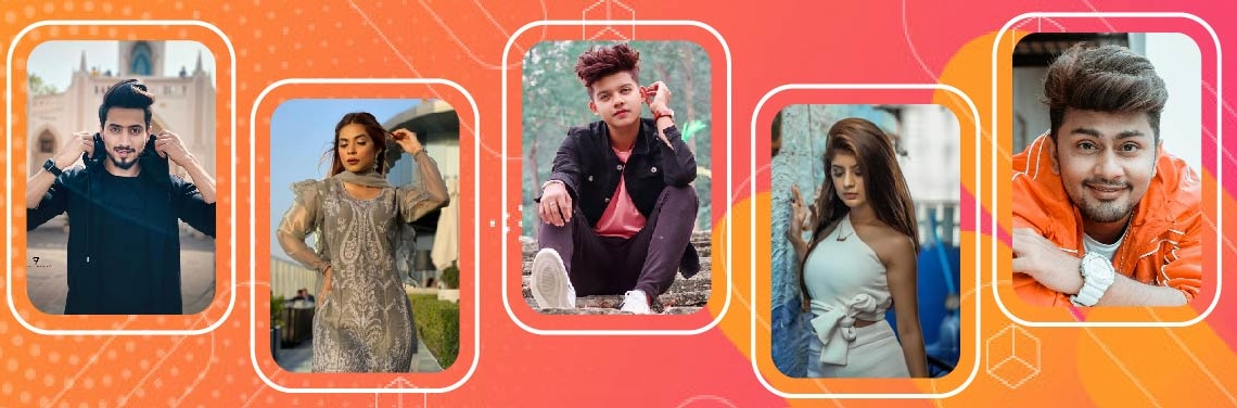 top Tiktok stars in India